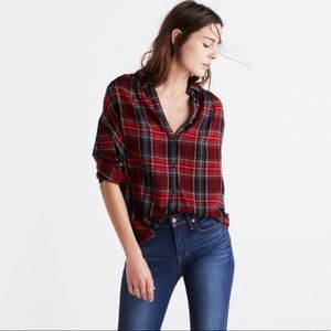 Madewell central Long Sleeve Shirt in tartan plaid